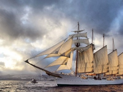 Spanish Ship Elcano Arrives in the Philippines