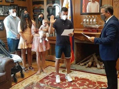 Spanish Football Player Bienvenido Marañon Takes Oath as Filipino